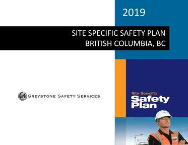 site specific health and safety plan manuals canada bc vancouver surrey burnaby richmond delta langley maple ridge coquitlam abbotsford chilliwack kelowna victoria nanaimo langford