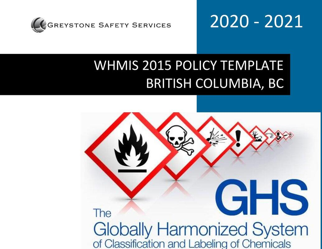 whmis 2015 ghs globally harmonized system policy program procedure template bc british columbia vancouver surrey burnaby richmond delta langley victoria nanaimo abbotsford mission coquitlam maple ridge new westminster kelowna kamloops